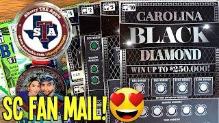 SC FAN MAIL WINS!  Let Me Introduce...  $1, $2, $5, $10 CAROLINA Gem Series Lottery Scratch offs