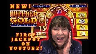 FIRST HANDPAY JACKPOT ON YOUTUBE! BUFFALO GOLD REVOLUTION!