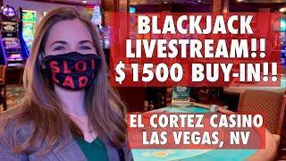 FINALLY BROKE THE LOSING STREAK!! EPIC SESSION!! LIVE: BLACKJACK!! $1500 Buy-in!!