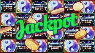 FIRST SPIN BONUS! JACKPOT HANDPAY | Red Fortune High Limit Slot Machine | Thunder Cash
