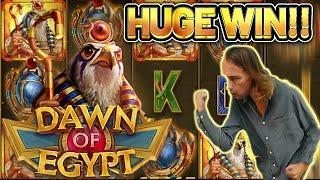 HUGE WIN! DAWN OF EGYPT BIG WIN - €10 bet on CASINO Slot from CasinoDaddys LIVE STREAM
