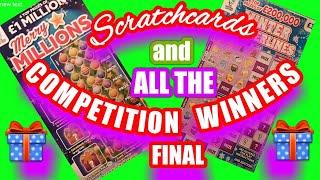 Scratchcards..Merry Millions..Winter Wonderlines.andWINNERS IN OUR COMPETITION..Name that