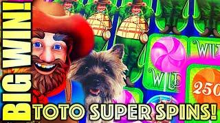 WINNING! TOTO SUPER SPINS! MUNCHKINLAND & ALL ABOARD!  WINNING AT MGM NATIONAL HARBOR! SLOT MACHINE