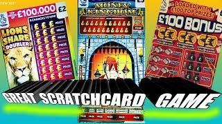 GREAT SCRATCHCARD GAME..MONEY KINGDOM..CASHWORD..LION..DOUBLER..BINGO BONUS..CARS & CASH
