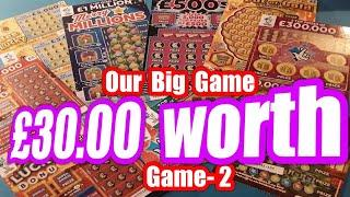 Our Main Big Game..today its £30,00 worth Scratchcards..mmmmmmMMM