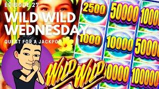 WILD WILD WEDNESDAY! QUEST FOR A JACKPOT [EP 27]  WILD WILD PEARL Slot Machine (Aristocrat)