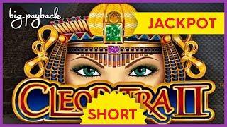 JACKPOT HANDPAY, SURPRISE!! Cleopatra 2 Slot - LOVED IT! #Shorts
