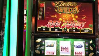 """VGT """"Lucky Ducky Electric Wilds"""" $18 Red Win Spins JB Elah Slots Choctaw Casino, Durant, OK"""