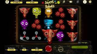 Sweet Robots slot from Booming Games - Gameplay