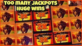 MASSSIVE HUGE JACKPOTS/ THUNDERHORN SLOT JACKPOT/ HIGH LIMIT BETS/ MAX BETS