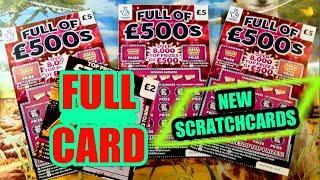 "NEW SCRATCHCARDS..""FULL OF £500s.."" AMAZING  GAME....AND FULL CARD..WhooooOOOOOOO.."