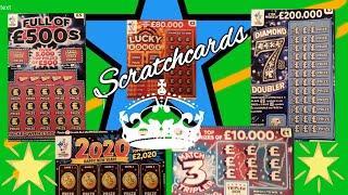 Full £500..Scratchcards..Diamond 7s..Winter Wonderlines.B-Lucky.Match 3 Tripler.Lucky Bonus