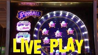 PINBALL Live Play $10.00 per spin High Denom Limit ITG Slot Machine