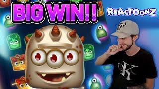 BIG WIN! REACTOONZ BIG WIN - CASINO Slot from CasinoDaddys LIVE STREAM