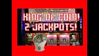 2 JACKPOTS  VGT King of Coin  $15 Max Bet! LIVE PLAY!