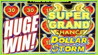 HUGE WIN! ️ SUPER GRAND JACKPOT CHANCE!  FIRST time PLAYING Dollar Storm   Slot Traveler