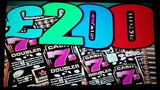 """GREAT SCRATCHCARD GAME STARTS..JEWEL SMASH""""GOLD 7s""""FULL 500"""