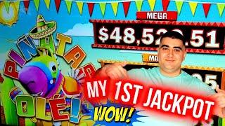 HANDPAY JACKPOT On High Limit Pinatas Ole Slot - $33 A Spin   Winning On Slots At Casino