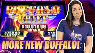 BRAND NEW BUFFALO SLOTS !! BUFFALO CHIEF ! BUFFALO RUSH ! MAX BET BIG WINS!