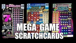 """MEGA SCRATCHCARD GAME..£75M SPECTACULAR """"CASH 7s""""LION SHARE DOUBLER"""