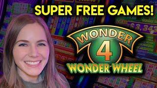 Loads Of BONUSES! Got The Super Free Games! Wonder 4 Wonder Wheel!