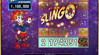 SLINGO STARS Video Slot Casino Game with a SLINGO GOLD FREE SPIN BONUS