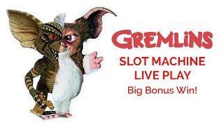 Gremlins Slot Machine! Big Win!!! Progressive Bonus Hit!!!! Max Bet