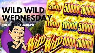 WILD WILD WEDNESDAY! QUEST FOR A JACKPOT [EP 03]  WILD WILD NUGGET Slot Machine (Aristocrat)