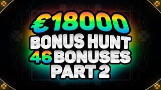€18000 BONUS HUNT RESULTS PART 2   46 ONLINE CASINO SLOT MACHINE FEATURES   EXTRA JUICY & WILD NORTH