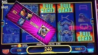 Midnight Stampede Slot Machine Bonus Won w/RETRIGGER ! Live Slot Play