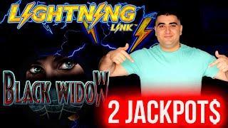 2 HANDPAY JACKPOTS On High Limit Lightning Link & BLACK WIDOW Slots   Winning MONEY At Casino