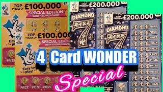 4 Card Wonder Game.Special......in our ..One Card Wonder Scratchcard Game