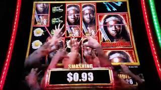 The Walking Dead 2 Slot Machine Bonus Win With MAX BET
