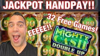 MIGHTY CASH DOUBLE UP ️ JACKPOT HANDPAY!!!   EEEEE!!!