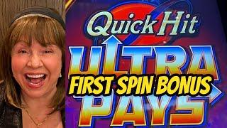 FIRST SPIN BONUS! ULTRA PAYS QUICK HIT