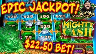 MAX BET! EPIC JACKPOT! ONLY ONE BONUS! Mighty Cash Double Up