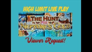 VGT Hunt for Neptune's Gold, High Limit Live Play ️ Viewer Request!
