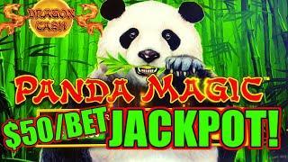 HIGH LIMIT Dragon Cash Link Panda Magic HANDPAY JACKPOT ~ $50 Bonus Round Slot Machine Casino