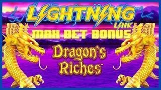 ️HIGH LIMIT Lightning Link Dragon's Riches ️$25 MAX BET BONUS ROUND Slot Machine LAS VEGAS CASINO