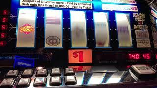 5 Times Pay - Double Diamond 9 Line $45/Spin - High Limit Slot Play