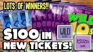 NEW TICKET WINS!!  $100 in Wild 10s, 50X Fast Cash + Double Match  TEXAS LOTTERY Scratch Offs