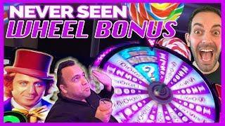 NEVER SEEN  Wonka Wheel Bonus with Jason!!  Slot Machine Pokies w Brian Christopher