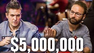 I'm Sitting Next To DANIEL NEGREANU?! $5,000,000 Up Top!