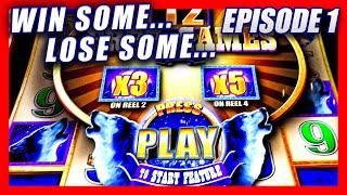 WIN SOME... LOSE SOME.... THESE SLOTS IN VEGAS MAD ME MAD!  NEW TIMBERWOLF DIAMOND  W/ BIG WINS