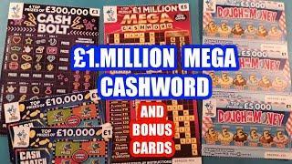 £1.Million CASHWORD..And Bonus Cards...mmmmmmMMM..says