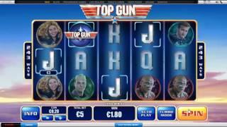 Top Gun slot by Playtech - Gameplay
