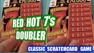 Cracker of a Scratchcard game tonight'sRed 7 Doublercards....Wow!  £25 00 of Cards