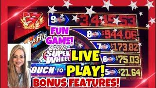 BALLYS️ QUICK HIT SUPER WHEEL️ | LOTS OF FEATURES! | LIVE PLAY!