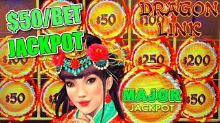 HIGH LIMIT Dragon Link Peacock Princess HANDPAY MAJOR JACKPOT  $50 MAX BET BONUS ROUND Slot Machine