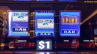 Good Good Good @ San Manuel Casino Black diamond Platinum,Blazin GEMS,Triple Diamond STRIKE 赤富士スロット